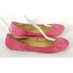 Lucky Brand Pink Leather Ballet Flats Sz 9 Emmie